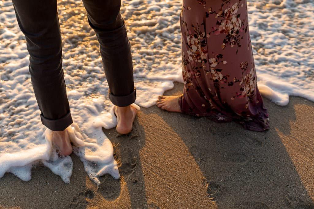 Maternity photography in Laguna Beach at sunset