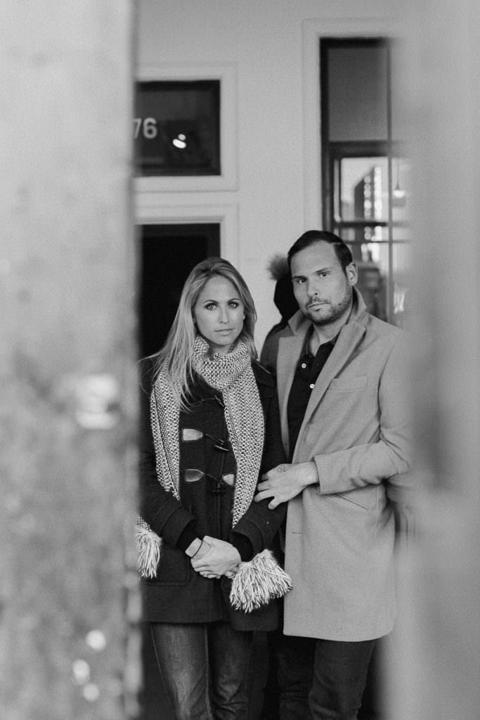Engagement photography on the streets of Manhattan New York