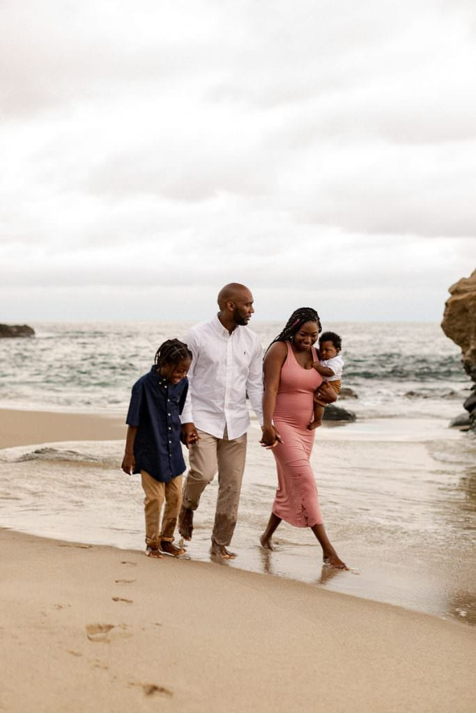 Beach family photography in Laguna Beach California